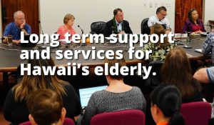 Long term support and services for Hawaii's elderly.