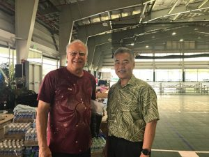 Governor David Ige with State Senator Russell Ruderman